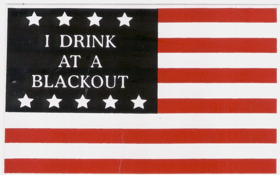 [photo: A Blackout bumper sticker from Pat O'Connor.]