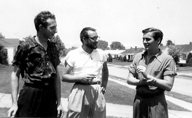 [Beat Generation photo image: Dave Haselwood, Lee Streiff, Michael McClure - 1951.]
