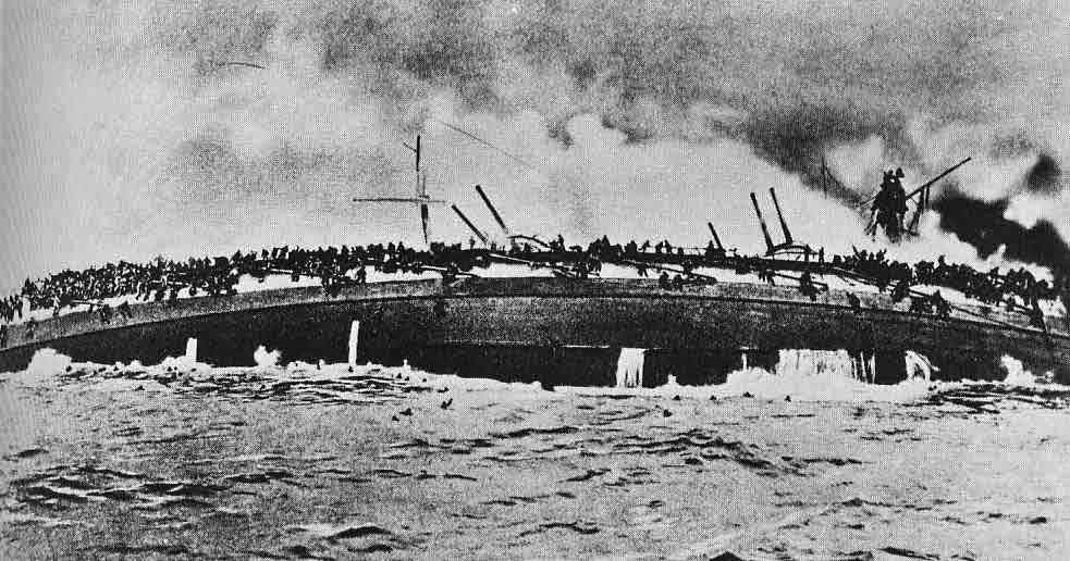 [image: sinking of the SMS Blcher]