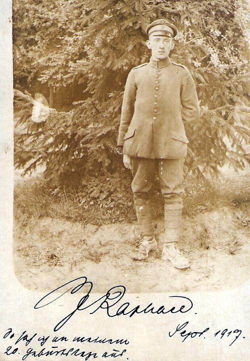 [photograph: Landsturm Jacob Raphael,1917, courtesy Zeev Raphael]